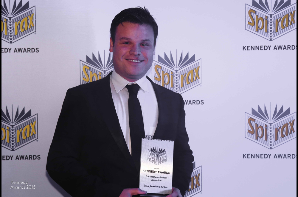2015 Young Journalist of the Year Taylor Auerbach of The Daily Telegraph