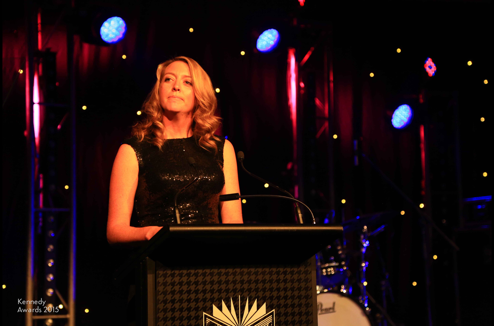 Natalie Peters of 2GB, with her third consecutive Sean Flannery Award for Outstanding Radio News Reporting