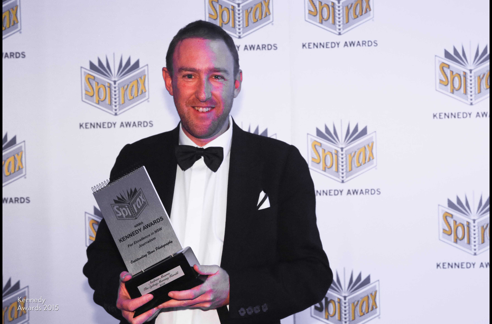 Andrew Meares of Fairfax media wins the award for Outstanding News Photo