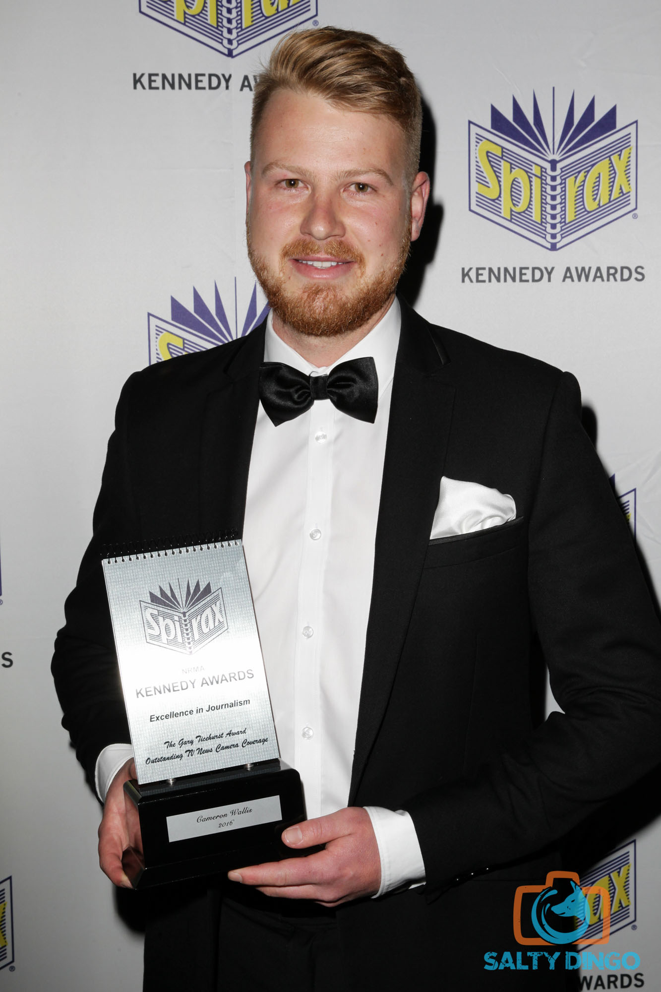Cameron Wallis, 2016 NRMA Kennedy Awards. Picture © Salty Dingo 2016