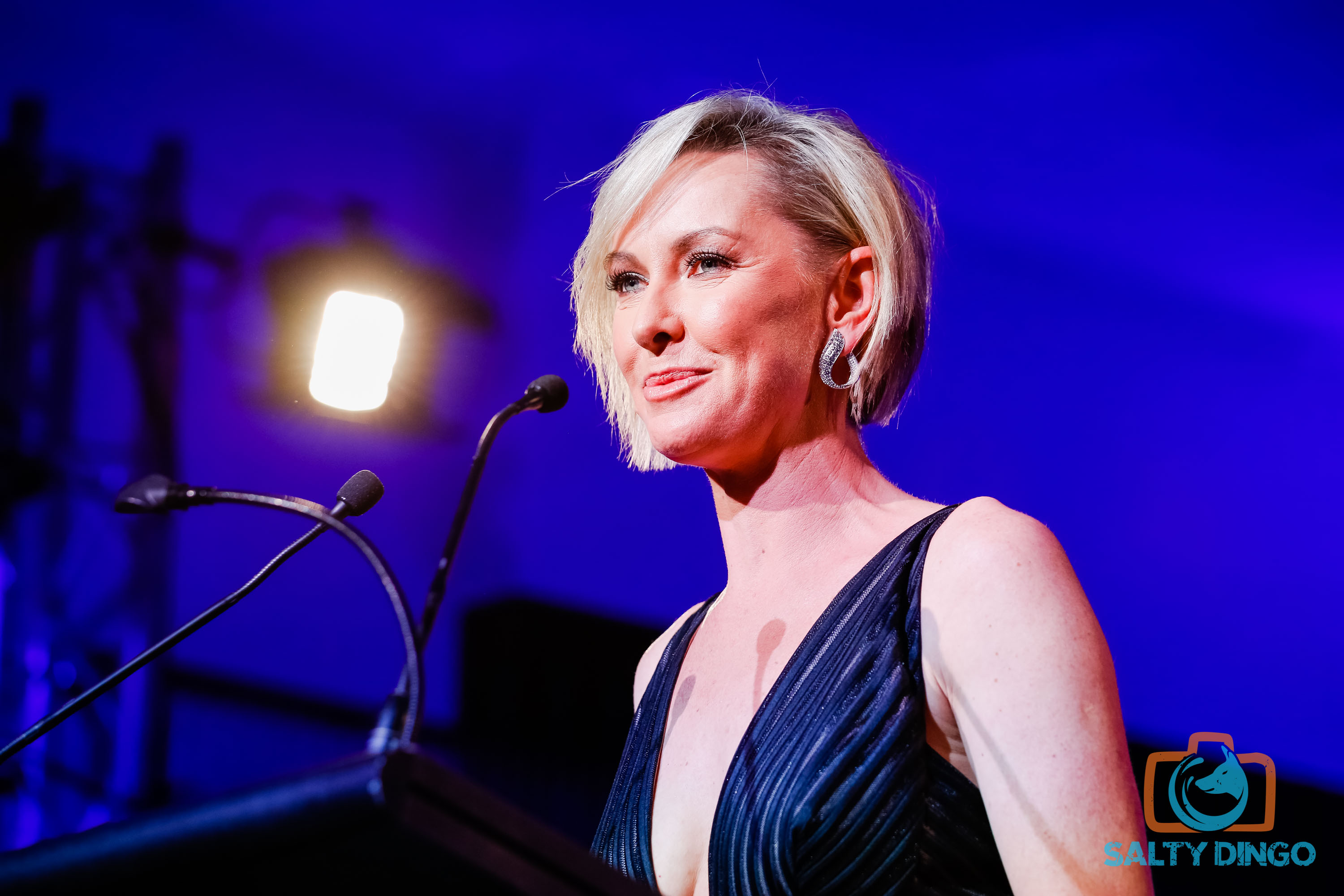 The Nine Network's Deb Knight presenting the award for Outstanding Current Affairs
